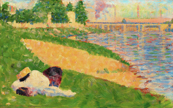 Wall Art - Painting - The Seine With Clothing On The Bank - Digital Remastered Edition by Georges Seurat