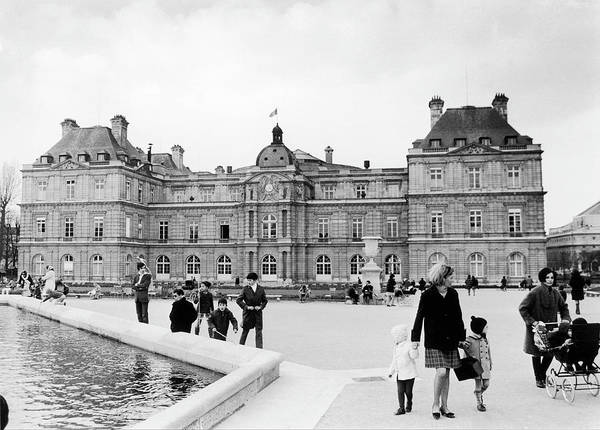 Jardin Photograph - The Senates Facade Giving Out On The by Keystone-france