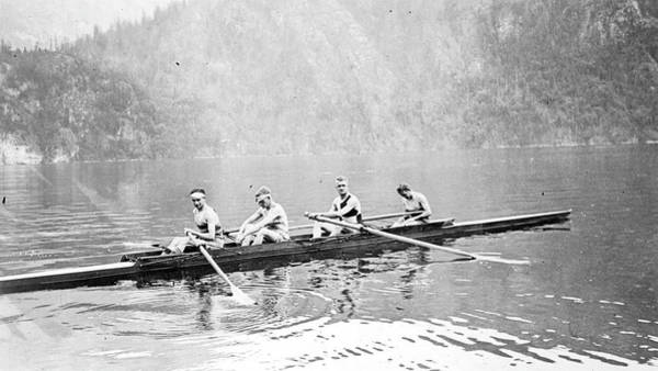 Painting - The Senior Four Rowing 1927 by Celestial Images