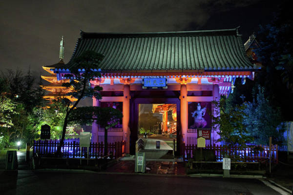 Wall Art - Photograph - The Senso -ji Temples At Night Are Magical by Kim Vermaat