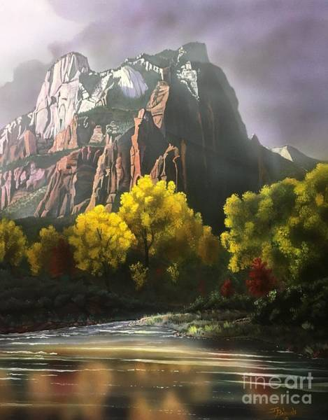 Zion Painting - The Sentinel Zion by Jerry Bokowski