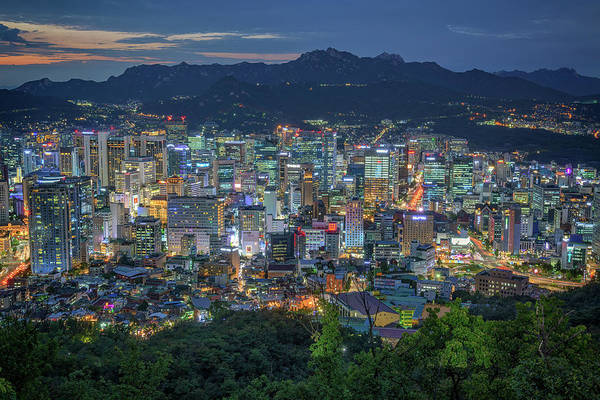 Photograph - The Seoul Skyline by Rick Berk