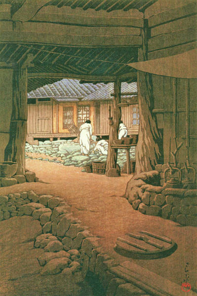 Wall Art - Painting - The Sequel Of Scenes From Korea, Mount Chiri, Senin Temple - Digital Remastered Edition by Kawase Hasui