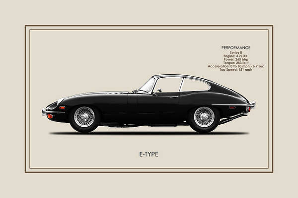 Wall Art - Photograph - The Series 2 E-type by Mark Rogan