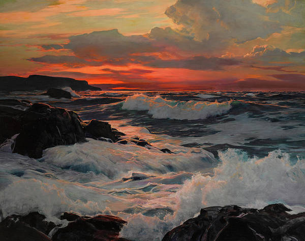Wall Art - Painting - The Setting Sun by Frederick Judd Waugh