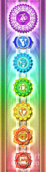 Sacred Heart Digital Art - The Seven Chakras - Series I by Dirk Czarnota