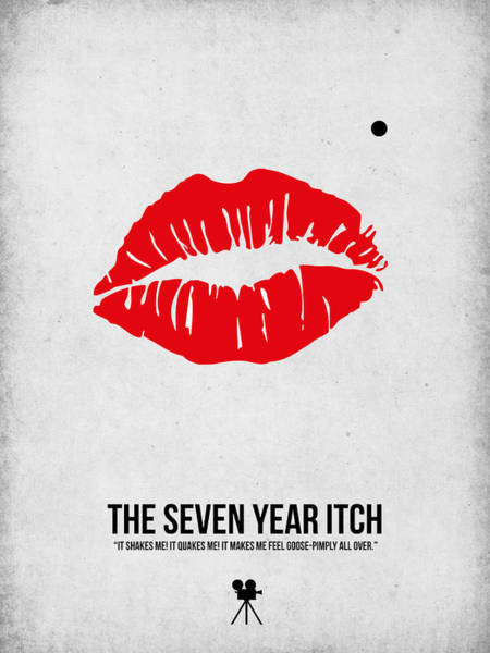 Wall Art - Digital Art - The Seven Year Itch by Naxart Studio