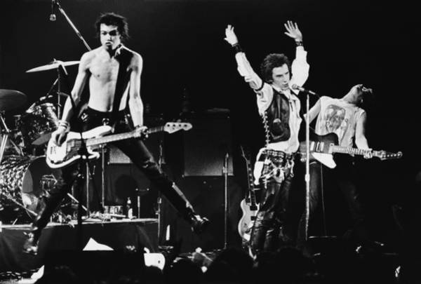 Human Interest Photograph - The Sex Pistols In Concert At The by George Rose