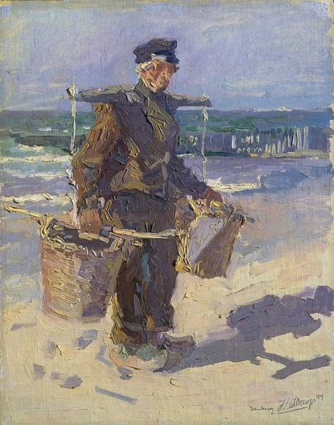 Wall Art - Painting - The Shell Fisher  1904  By Jan Toorop by Jan Toorop