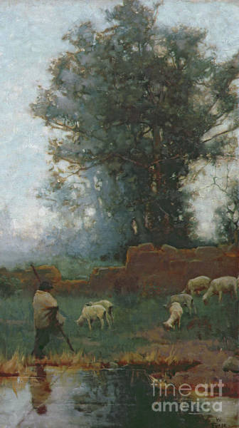 Wall Art - Painting - The Shepherd  by Charles Wellington Furse