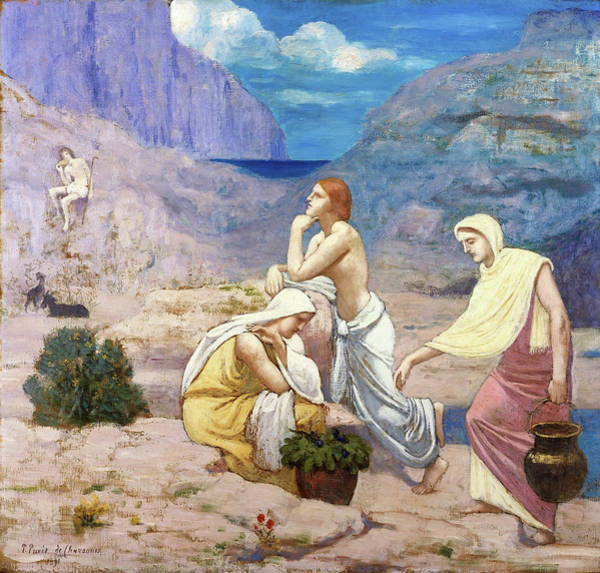 Wall Art - Painting - The Shepherd's Song - Digital Remastered Edition by Pierre Puvis de Chavannes