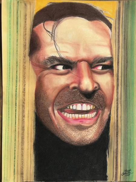 Wall Art - Pastel - The Shining by Chuck Schultz
