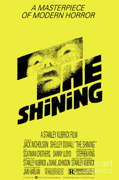 Mixed Media - The Shining - Yellow Poster by Kultur Arts Studios