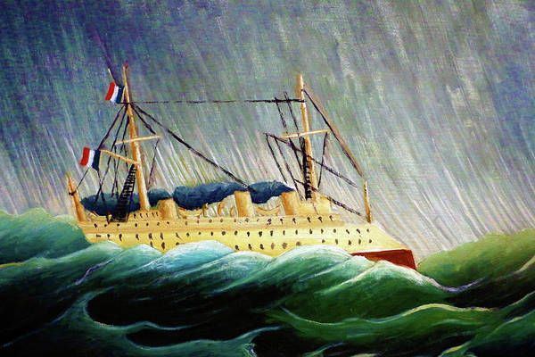 Cruiser Painting - The Ship In The Storm - Digital Remastered Edition by Henri Rousseau