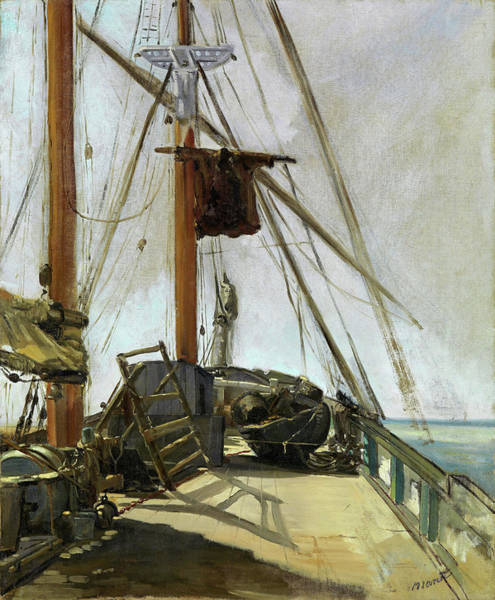 Manet Wall Art - Painting - The Ship's Deck - Digital Remastered Edition by Edouard Manet