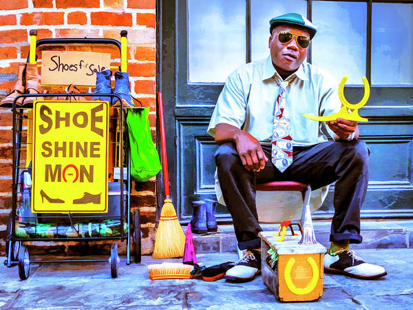 Photograph - The Shoe Shine Man by Dominic Piperata