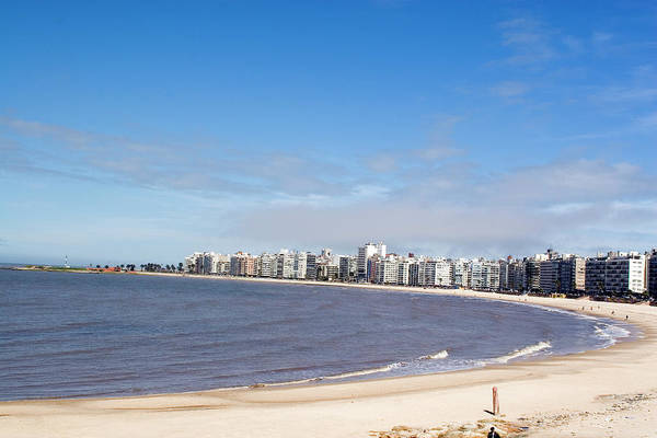 Montevideo Wall Art - Photograph - The Shore And Skyline Of Montevideo by Blowbackphoto