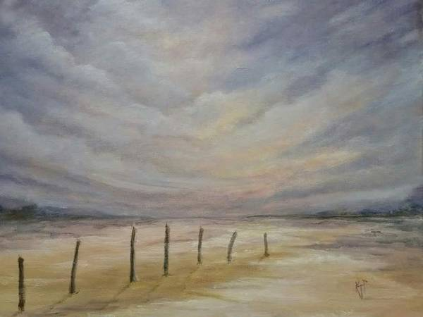Fencepost Painting - The Shore by Karen Pankow