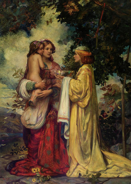 Wall Art - Painting - The Sibylla Europa Prophesying The Massacre Of The Innocents, 1906 by Hugo Ballin