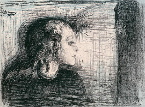 Relief - The Sick Child I by Edvard Munch