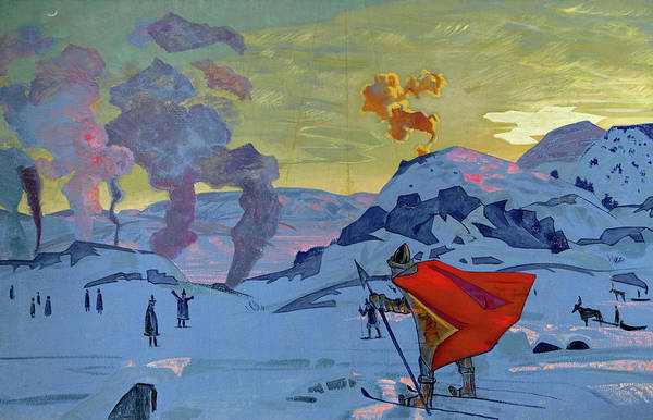 Wall Art - Painting -  The Signal Fires Of Peace, 1917-1918 by Nikolai Konstantinovich Roerich