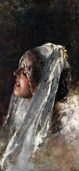 Wall Art - Painting - The Silver Veil by Vincenzo Irolli