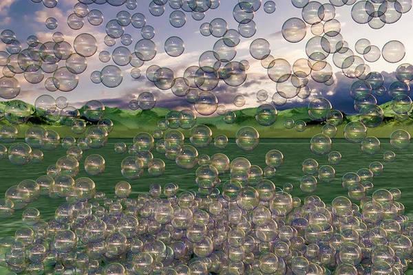 Wall Art - Digital Art - The Simplicity Of Bubbles  by Betsy Knapp