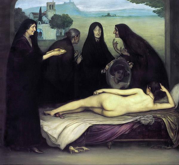Velazquez Wall Art - Painting - The Sin by Julio Romero de Torres