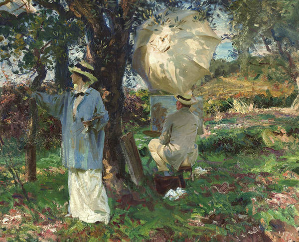 Wall Art - Painting - The Sketchers, 1913 by John Singer Sargent