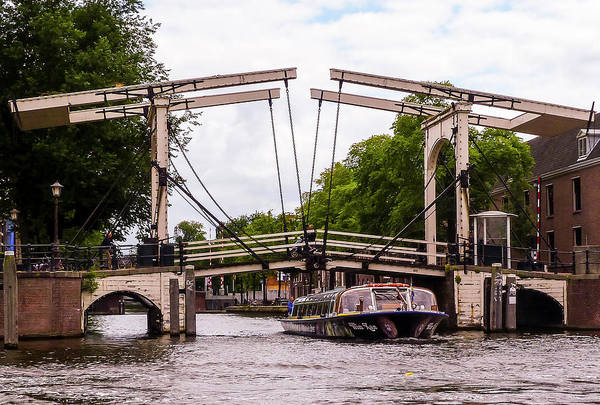 Photograph - The Skinny Bridge Amsterdam by Paul Croll