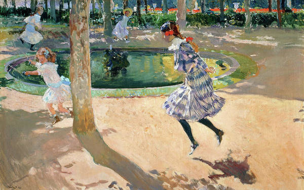 Wall Art - Painting - The Skipping Rope - Digital Remastered Edition by Joaquin Sorolla