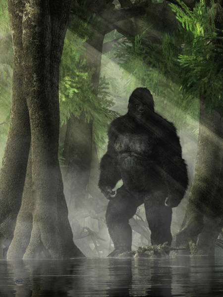 Digital Art - The Skunk Ape by Daniel Eskridge