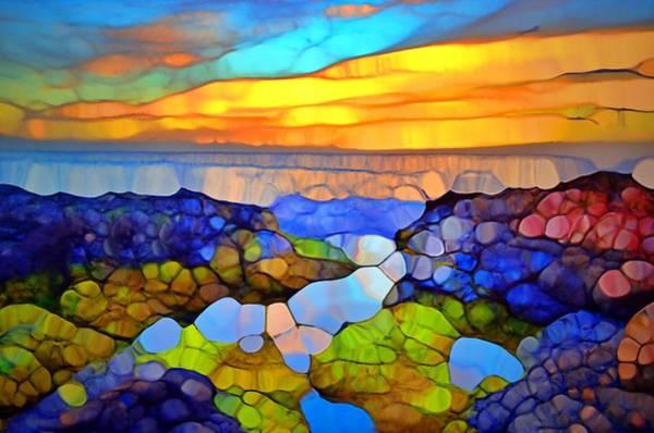 Wall Art - Digital Art - The Sky Kisses The Ocean Goodnight by Tara Turner