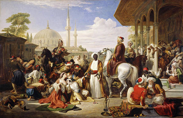 Wall Art - Painting - The Slave Market, Constantinople, 1838 by William Allan