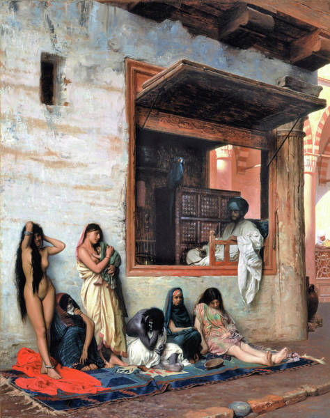 Tragedy Painting - The Slave Market - Digital Remastered Edition by Jean-Leon Gerome