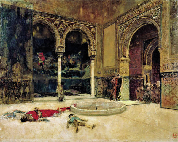 Wall Art - Painting - The Slaying Of The Abencerrajes - Digital Remastered Edition by Mariano Fortuny