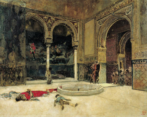 Painting - The Slaying Of The Abencerrajes by Maria Fortuny