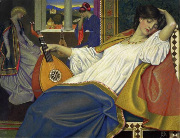 Beauty Wall Art - Painting - The Sleeping Beauty by Joseph Edward Southall