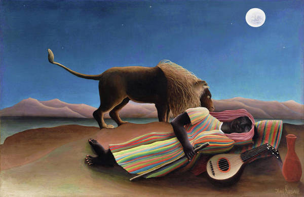 Wall Art - Painting - The Sleeping Gypsy - Digital Remastered Edition by Henri Rousseau