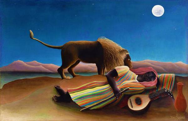 Wall Art - Painting - The Sleeping Gypsy - Original Clearcolor Edition by Henri Rousseau