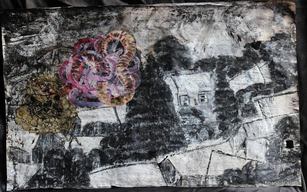 Mixed Media - The Slow And Winding Tale Of Destruction by Siobhan Dempsey