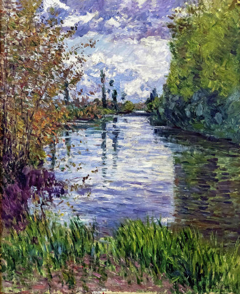Wall Art - Painting - The Small Arm Of The Seine In Autumn - Digital Remastered Edition by Gustave Caillebotte