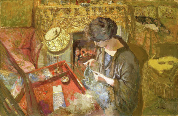 Embroidery Painting - The Small Drawing-room - Digital Remastered Edition by Edouard Vuillard