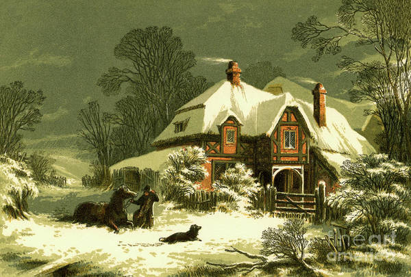 Steed Painting - The Snow Storm by Alexander Francis Lydon
