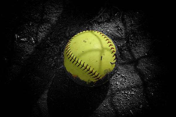 Chain Link Photograph - The Softball by Ron Regalado