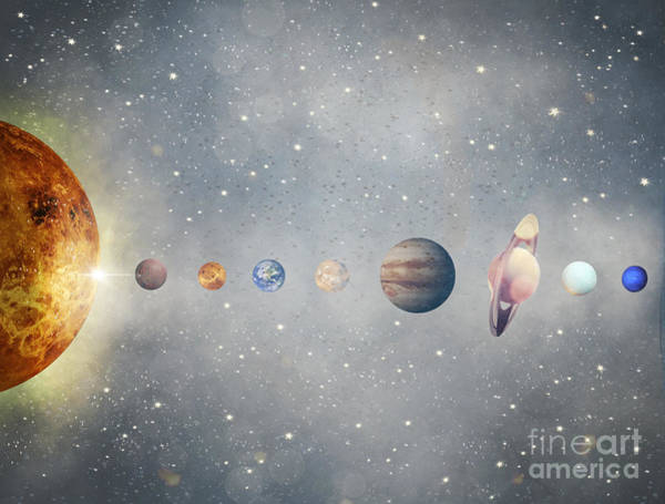 Wall Art - Painting - The Solar System by Bri Buckley