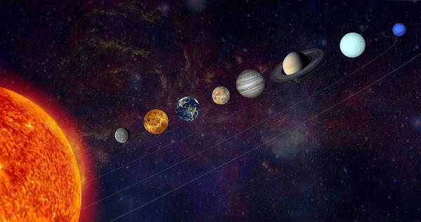 Wall Art - Photograph - The Solar System In A Line by Alxpin