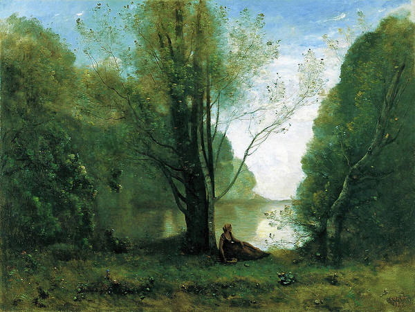 Wall Art - Painting - The Solitude. Recollection Of Vigen, Limousin - Digital Remastered Edition by Jean-Baptiste Camille Corot