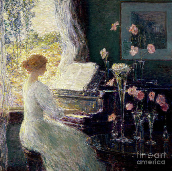 Wall Art - Painting - The Sonata, 1911  by Childe Frederick Hassam
