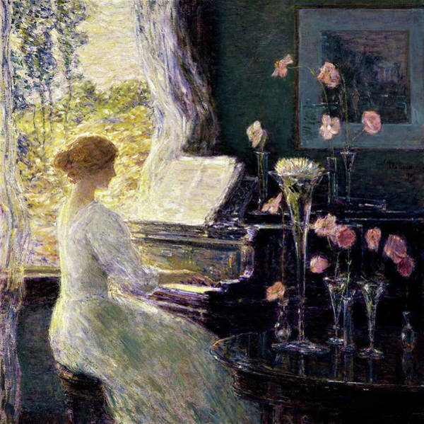 Wall Art - Painting - The Sonata - Digital Remastered Edition by Frederick Childe Hassam
